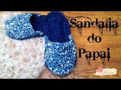 Sandália de crochê em malha - sandália do Papai-Especial dia dos Pais - YouTube