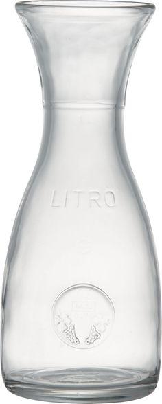 Trattoria style glass carafe, 1 litro