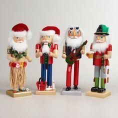 One of my favorite discoveries at WorldMarket.com: Santa Nutcrackers , Set of 4