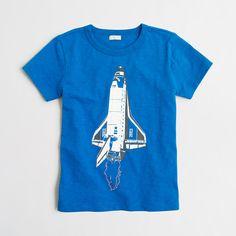 Factory boys' glow-in-the-dark rocket ship storybook T-shirt : storybook t-shirts | J.Crew Factory