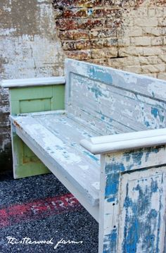 Build a bench from an old door.  Super easy!
