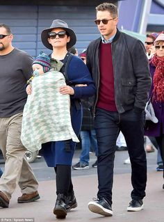 Ginnifer Goodwin and Josh Dallas take their little prince on his first trip to Disneyland