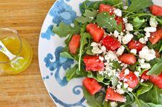 ENSALADA DE SANDÍA CON QUESO FETA Una ensalada refrescante y facil de preparar para disfrutar todo el verano.
