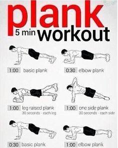 5 min plank workout