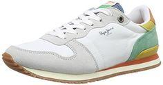 Pepe Jeans London GABLE RETRO, Damen Sneakers, Weiß (800WHITE), 38 EU - http://uhr.haus/pepe-jeans/38-eu-pepe-jeans-damen-gable-retro-sneakers-3