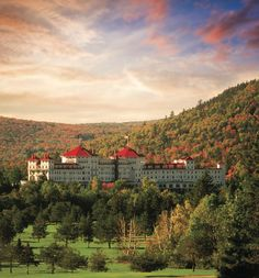Ideal destination for New England fall foliage: The Mount Washington Resort in Bretton Woods, N. New England Fall, New England Travel, Fall Wedding Destinations, Destination Weddings, Vacation Destinations, Hotels And Resorts, Best Hotels, Beautiful Places In America, Fall Vacations