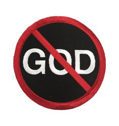 No God | Embroidered Patch | Blackcraft Cult