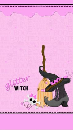 By Artist Unknown. Witch Wallpaper, Holiday Wallpaper, Halloween Wallpaper Iphone, Halloween Backgrounds, Halo Halloween, Pink Halloween, Scary Halloween, Cute Wallpaper Backgrounds, Cute Wallpapers