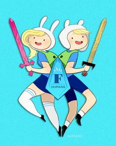 Gender Bender Adventure Time Characters by Aki - Finn/Fiona