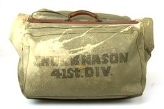 WWII Wardrobe Bag 41st Division Chuck Nason by RoslynVTGTradingCo