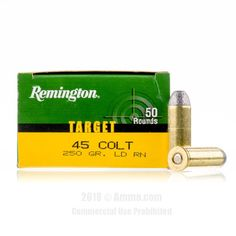 Remington 45 Long Colt Ammo - 500 Rounds of 250 Grain LRN Ammunition #45LongColt #45LongColtAmmo #Remington #RemingtonAmmo #Remington45LongColt #LRN