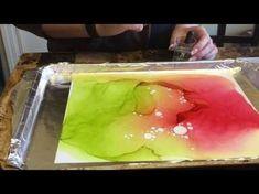 59. Alcohol Ink Blending Solution vs. Alcohol vs. Home Made Solution - YouTube