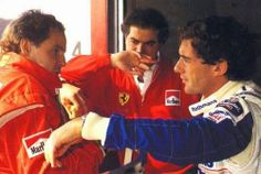 Ayrton Senna e Ron Dennis