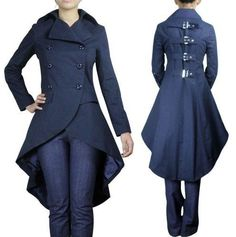 GOTHIC PUNK STEAMPUNK VICTORIAN MEDIEVAL COAT JACKET SIZES 8 - 28 | eBay