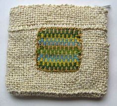 Ruth's weaving projects: Tapestry embedded in even weave
