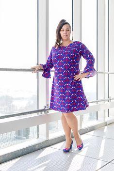 A-Linien-Kleid aus Lillestoff mit Volantärmel - schmeichelt kurvigen Frauen auch im Plusize-Bereich. Dresses With Sleeves, Models, Long Sleeve, Winter, Outfits, Fashion, Curvy Women, Curve Dresses, Nice Asses
