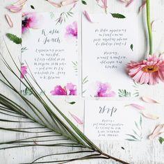 Aloha wedding invitation, hawajskie zaproszenie ślubne