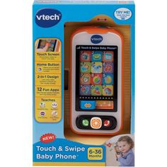 The Touch & Swipe Baby Phone by VTech captures your child's imagination with their very own smartphone for role-play fun! Slide between screens for two modes of . Learning Apps, Baby Learning, Baby Baby, Baby Toys, Baby Slide, 7 Month Old Baby, Vtech Baby, App Play, Touch Tablet