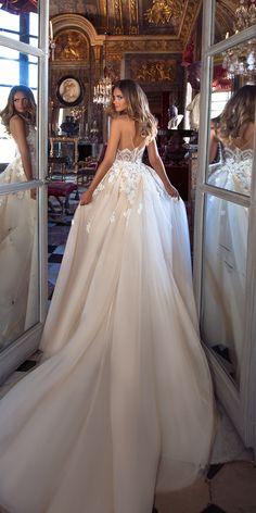 Milla Nova 2018 Wedding Dresses Collection ❤️ Milla Nova 2018 wedding dresses a line blush lace open back. See more: http://www.weddingforward.com/milla-nova-2018-wedding-dresses/#weddingforward#bride#wedding#millanova#weddingdress