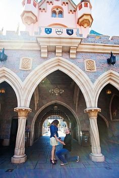 At Disneyland. | 33 Awesome Marriage Proposals You Couldn't Say No To