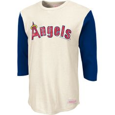 Los Angeles Angels of Anaheim Batter 3/4 Sleeve T-Shirt by Mitchell & Ness  - MLB.com Shop