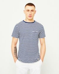 Armor Lux Pocket T-Shirt Navy & Off White. Available at The Idle Man Sweater Shirt, Men Sweater, T Shirt, Formal Casual, Nautical Fashion, Mens Fashion, Pocket, Mens Tops, How To Wear
