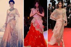 Check out the The Crimson Bride's blog post for wedding fashion inspiration from 2014s best outfits! Dia Mirza in Shantanu & Nikhil - Chitrangada Singh in a red bridal lehngha - Sonam Kapoor in Anamika Khanna - stunning 2014 looks from these gorgeous Bollywood beauties! Indian bride - Indian wedding - Indian couture - Indian designers #thecrimsonbride