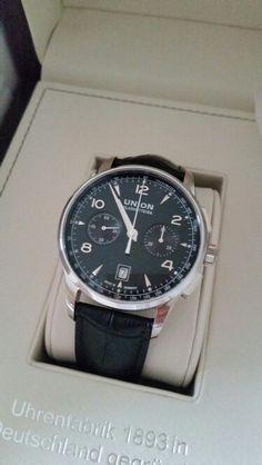Union glashütte noramis chronograph schwarz