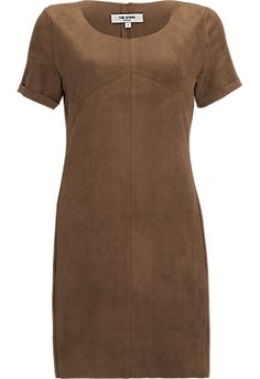 Suede Look Jurk Taupe - The Sting