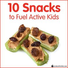 10 Snacks to Fuel Active Kids - fuel young athletes and active kids with these easy snack combinations! /produceforkids/