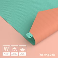 Melon & Lime - Yoga Mats Connected with an App Yoga Mats, Stress Management, Positive Attitude, Physical Activities, Yoga Fitness, Om, Board, Yoga Exercises