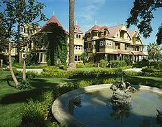 The Winchester Mystery House, under continuous construction for 38 years and believed to be haunted.