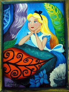 Wonderland dreams, painted in acrylic on canvas.