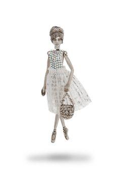 Servane Gaxotte ~Rose Doll Necklace