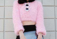1FINEDAI: Trendy Blogger Womens Fashion Thick Round Sunglasses 8980