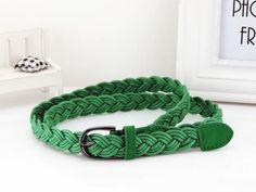 York Style Rope Braid Belt