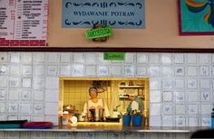 MILK BAR - Bar Mleczny Pod Barbakanem  Warsaw, Poland Restaurants › Polish  This popular milk bar looks as though it hasn't changed for decades. It serves cheap, unpretentious Polish standards in a location that would be the envy of many upmarket eateries.