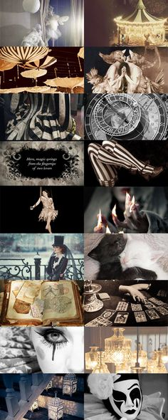 """catsandthelaw: """" The Night Circus - by Erin Morgenstern. Circus Aesthetic, Aesthetic Collage, Circus Theme, Circus Party, Circus Circus, Aesthetic Pastel Wallpaper, Aesthetic Wallpapers, Nocturne, Steampunk Circus"""
