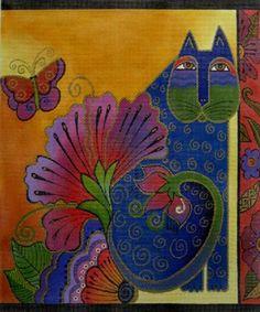 Laurel Burch: Blossoming Spirits Needlepoint canvas