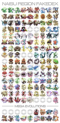Naisu Region Fakedex by pokeluka. WHAT. THIS IS FANTASTIC. THIS IS TOO MUCH TO TAKE IN. <-- we already have the rat, so just replace the rat based fire type starter with a tiger based one