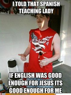 'merica. my excuse the next time someone asks why i did so terrible in spanish