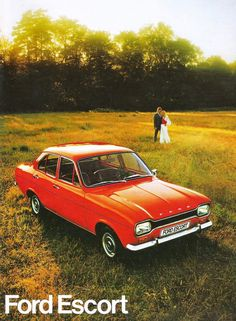 FORD ESCORT This is pretty much like the one I owned when stationed in Germany. Ford Motor Company, Escort Mk1, Ford Escort, Hybrids And Electric Cars, Gp F1, Eco Friendly Cars, Suv Cars, Ford Classic Cars, Car Advertising