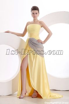1st-dress.com Offers High Quality Concise Yellow Military Prom Dress with Slit,Priced At Only US$155.00 (Free Shipping)