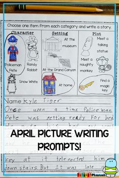 These no-prep, printable picture writing prompts for kids are interesting, imaginative, fun! Even your most reluctant writer will be inspired! These creative story starters are for different types of writing: compare and contrast, narrative, persuasive, and newspaper! Spelling supports for your ELL and Special Ed. students!  Inspirational writing worksheets for Writing Centers, Writing workshop, or journals! Click the picture to see all of the fun choices! {first grade, second grade, third…