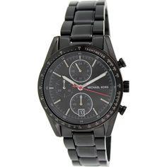 4d12b71dee7f Michael Kors Men s Accelerator MK8386 Black Stainless-Steel Quartz Watch