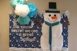 Winter Snowman Bulletin Board preschool