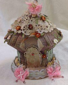 Book folding: fairy house