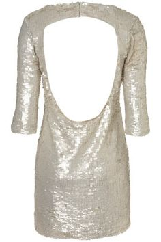 Totally in love with the white sequins and open back. From TOPSHOP