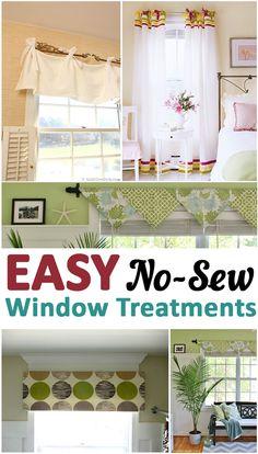 Easy No-Sew Window Treatments