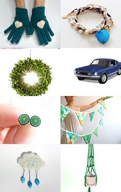 Blue to Green and in Between by Julia on Etsy